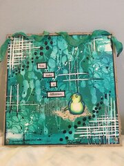 """Discovering"" Teal Watercolor on Chipboard"