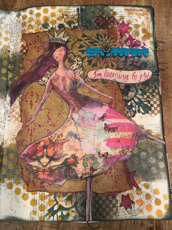 Lg Art Journal - I'm Learning to Fly
