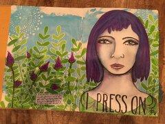 Lg art journal - I Press On