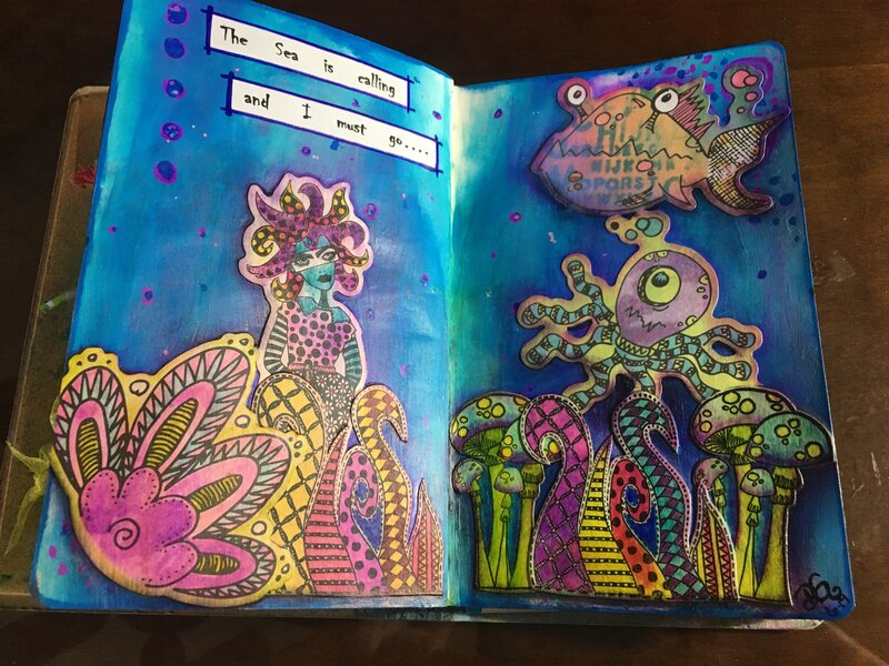 Art Journal - the Sea is calling
