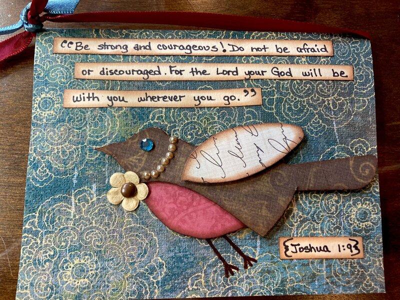 Card for friend - M. Blair