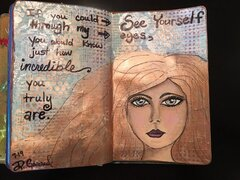 Art journal/drawing faces