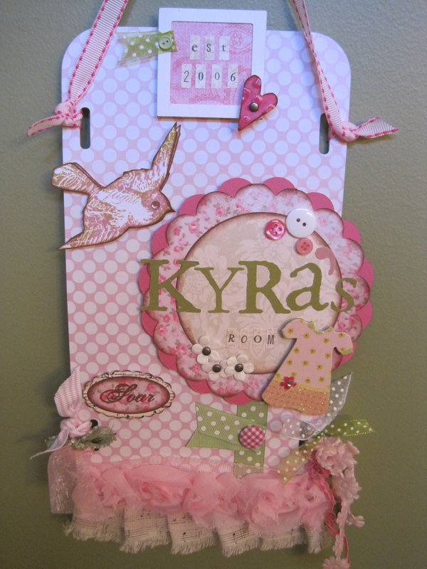 Door Sign/Wall Hanging - Kyra's Room