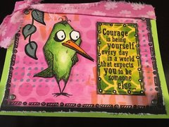 Courage Bird Card - J. Todd
