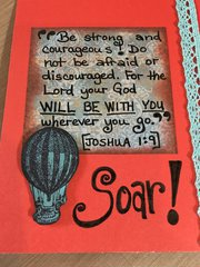 Orange/Teal Card w/scripture (inside cover)