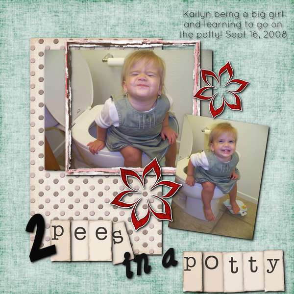 2 pees in a potty