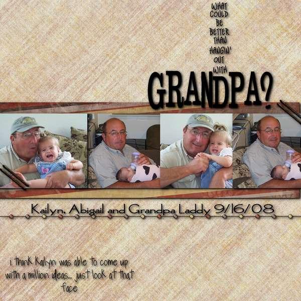Hanging with grandpa
