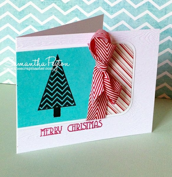 Merry Christmas Trendy Tree Card