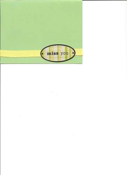 green & yellow card