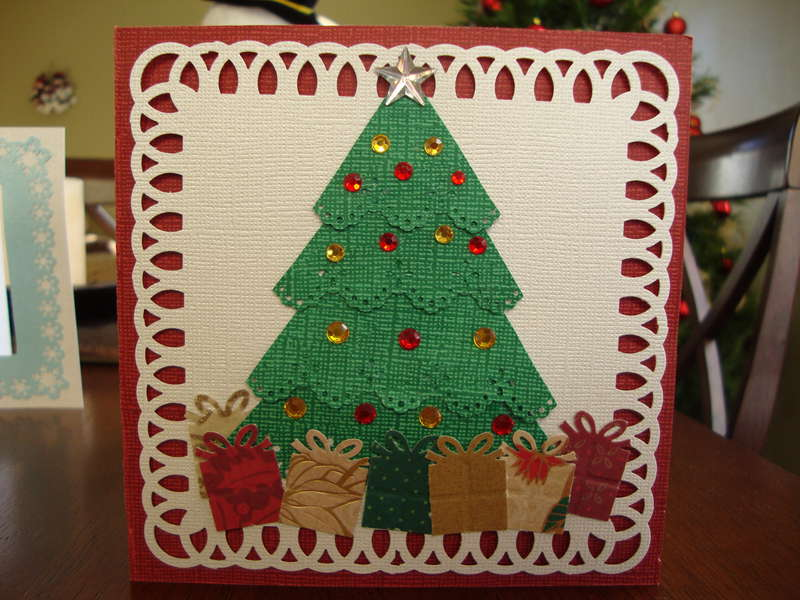 Martha Stewart punch tree card.