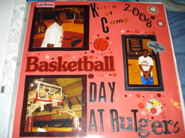 My Baby Kierra at Rutgers Basketball Camp in 2008