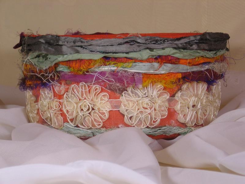 decorative basket of felt