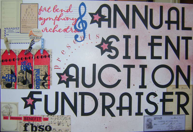 Annual Silent Auction Fundraiser poster