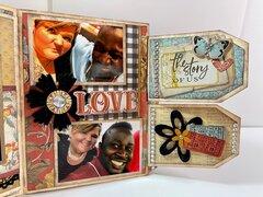 Valentines Day File Folder Mini Album