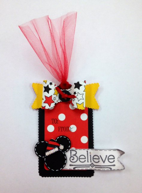 """Mickey Mouse """"Believe"""" Christmas Tag"""