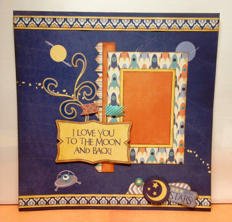 To the Moon and Back Layout