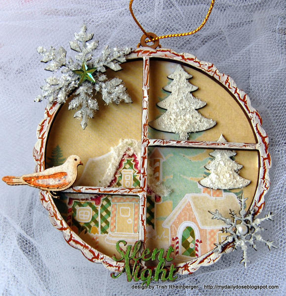 A decoration to hang from the tree