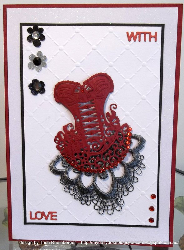 Tattered lace corset card