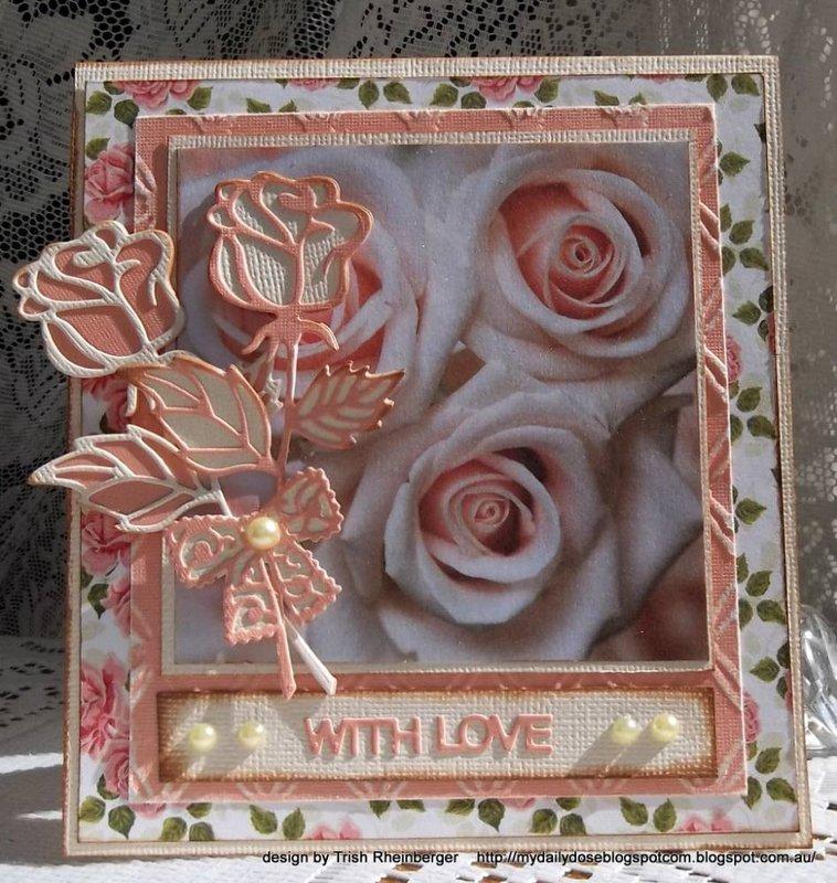 Frantic stamper rose die card