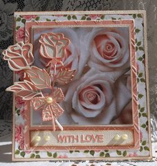 Frantic stamper rose die card