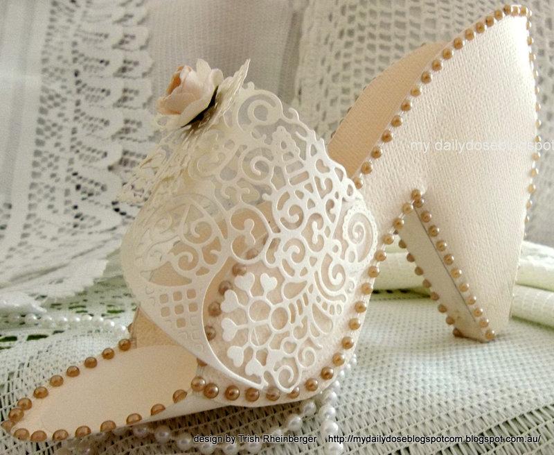 tattered lace wedding shoe