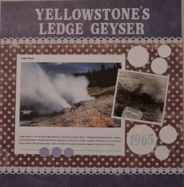 Yellowstone's Ledge Geyser