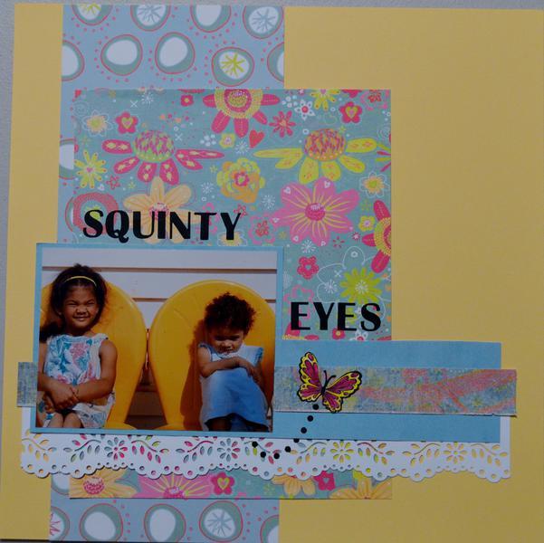 Squinty eyes
