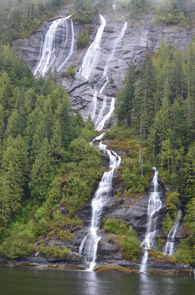 Waterfall at Misty Fjords