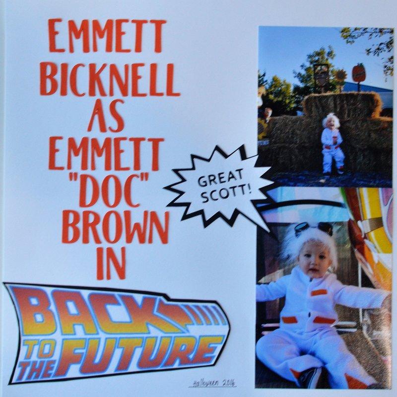 "Emmett Bicknell as Emmett ""Doc"" Brown"