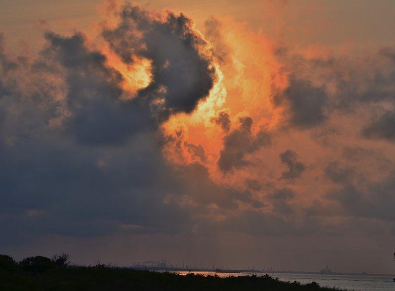 Sunset at Galveston