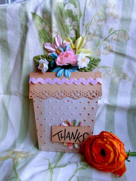 a flower pot card