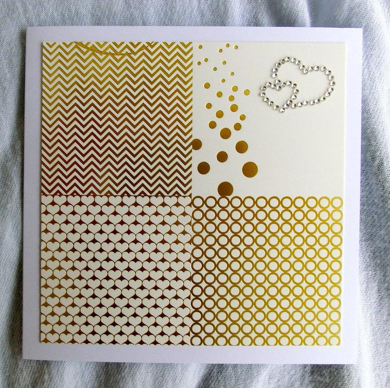 Elegant card gold