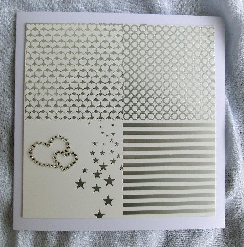 elegant card silver