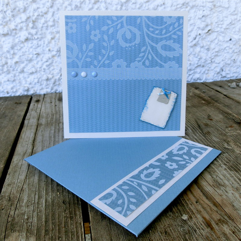 Neutral card with matching envelope