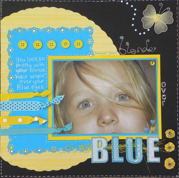 Blonde over Blue