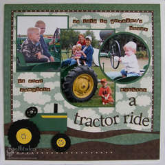 """""""Tractor Ride"""" by Judy Hayes"""