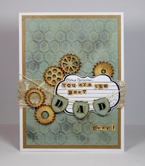 You Are The Best Dad Ever Card by Yvonne van de Grijp for Spellbinders