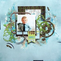 Little Boy Scrapbook Layout with Seth Apter's Dies