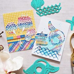 Colorful Mixed Media Cards with Zsoka Marko