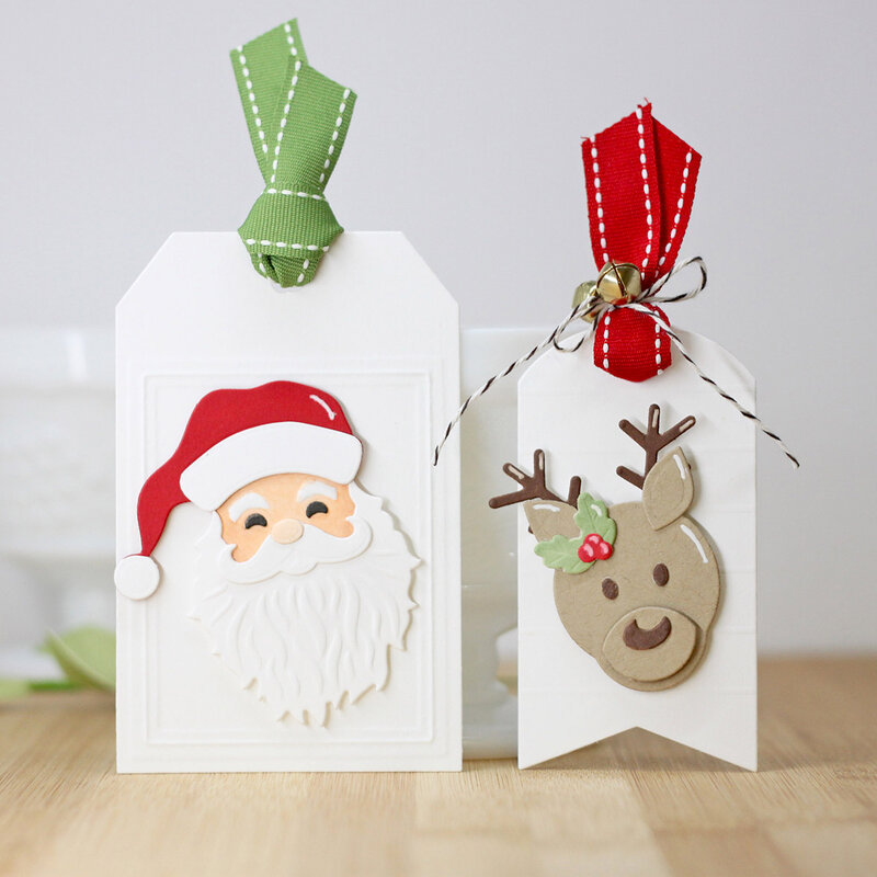 Clean and Simple Christmas Tags by Laurie Willison