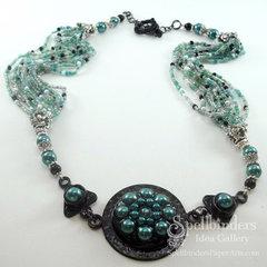 Bezel Necklace by Darsie Bruno