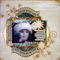 December Dreams Scrapbook Page by Tine McDonald