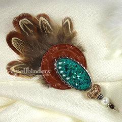 Feather Hatpin by Yvonne van de Grijp