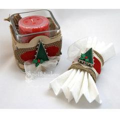 Christmas Tree Bezel Candle Holder and Napkin Ring by Teresa Horner