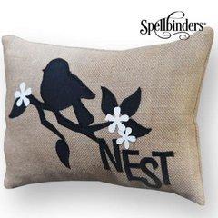 Nest Burlap Pillow