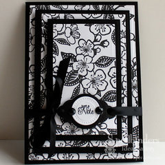 Black and White Note Card by Windy Robinson