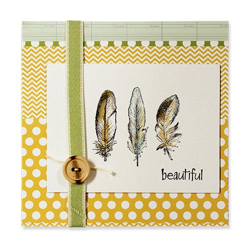 beautiful feather card