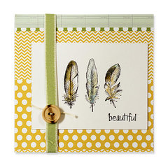 beautiful feather card