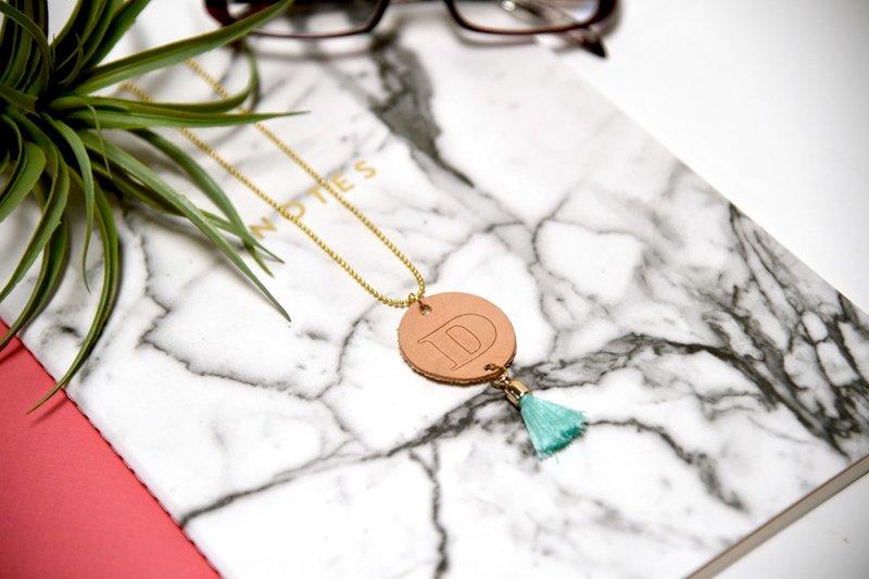 Monogram Leather Necklace