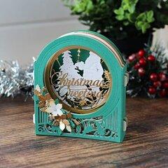 Christmas Greetings Card by Bibi Cameron